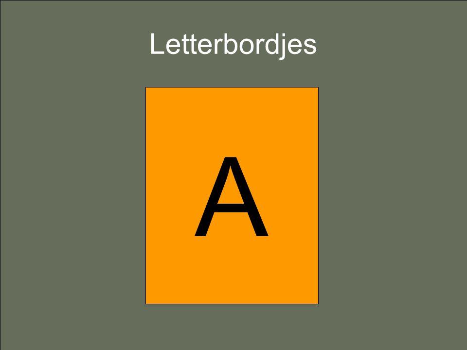 Letterbordjes A