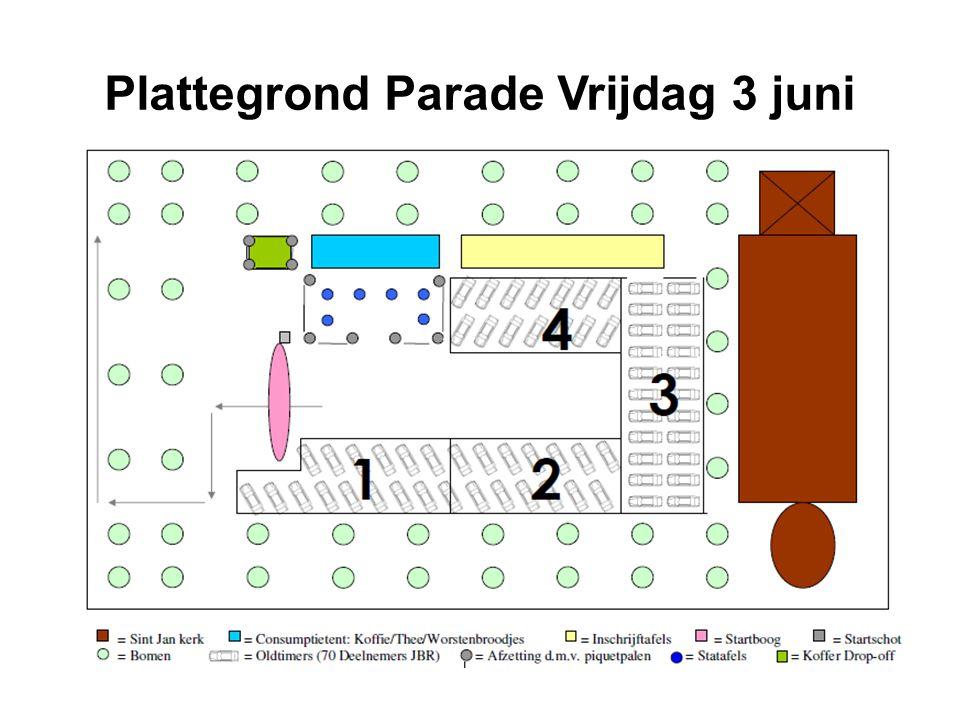 Plattegrond Parade Vrijdag 3 juni