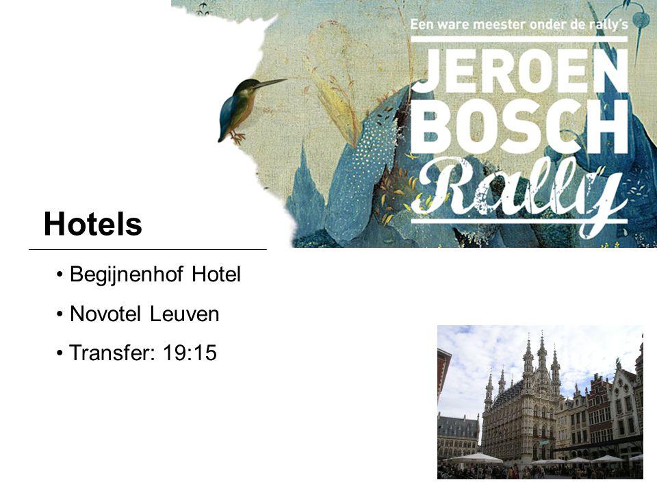Hotels Begijnenhof Hotel Novotel Leuven Transfer: 19:15