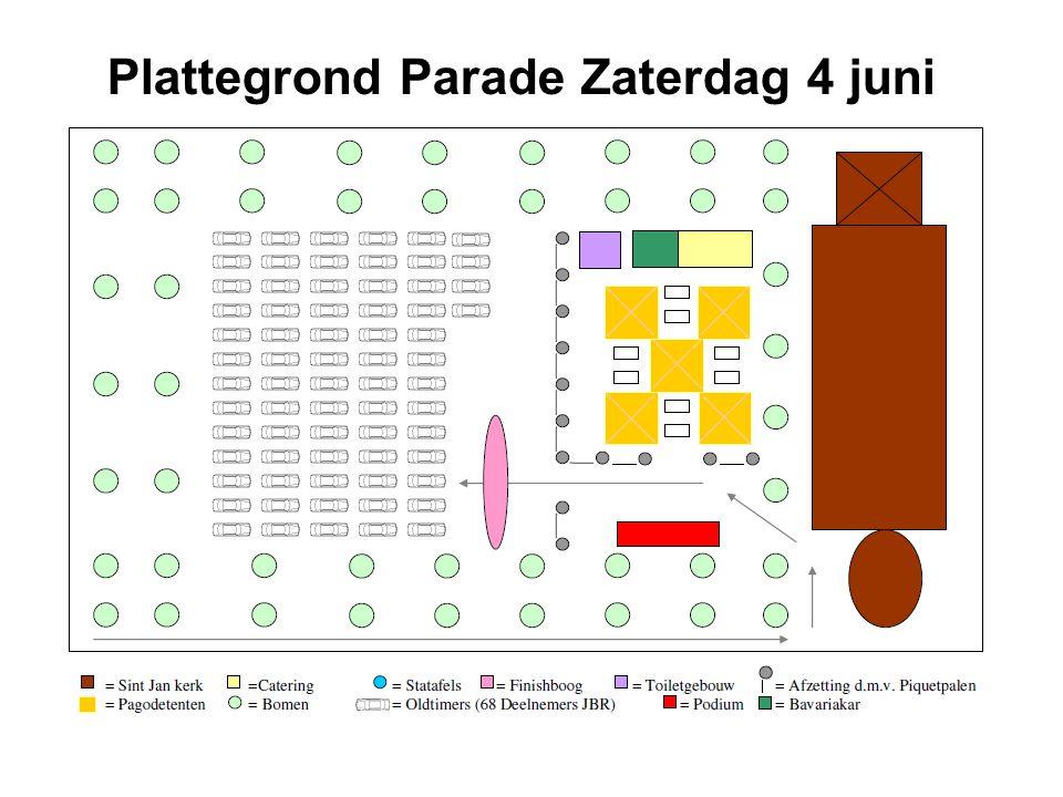 Plattegrond Parade Zaterdag 4 juni