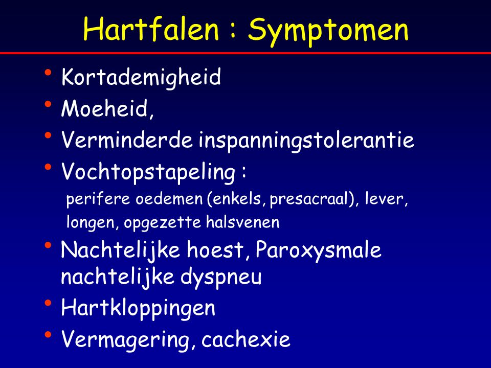 diagnose en behandeling van hartfalen in ppt download