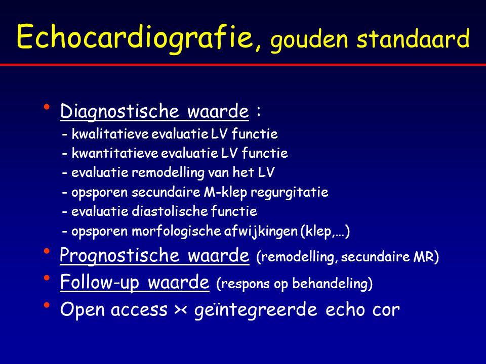 Echocardiografie, gouden standaard