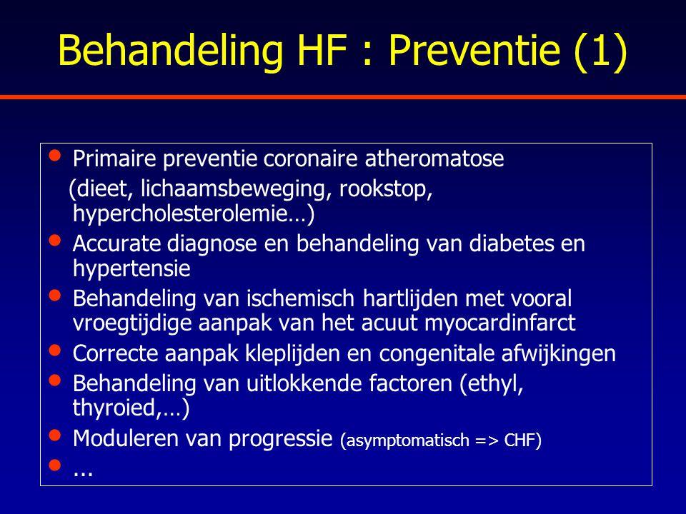 Behandeling HF : Preventie (1)