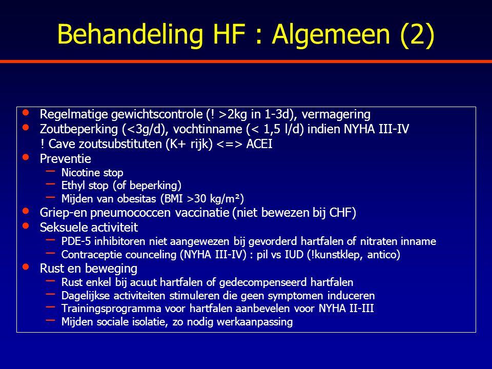 Behandeling HF : Algemeen (2)