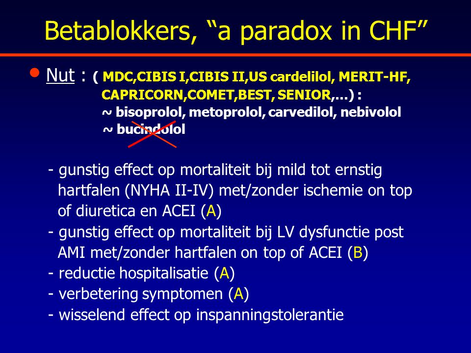 Betablokkers, a paradox in CHF