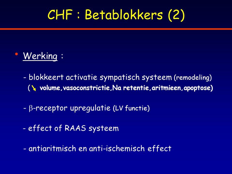 CHF : Betablokkers (2) Werking :