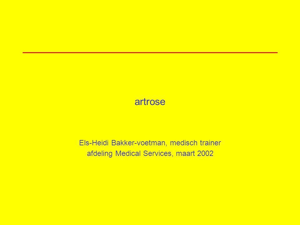 artrose Els-Heidi Bakker-voetman, medisch trainer