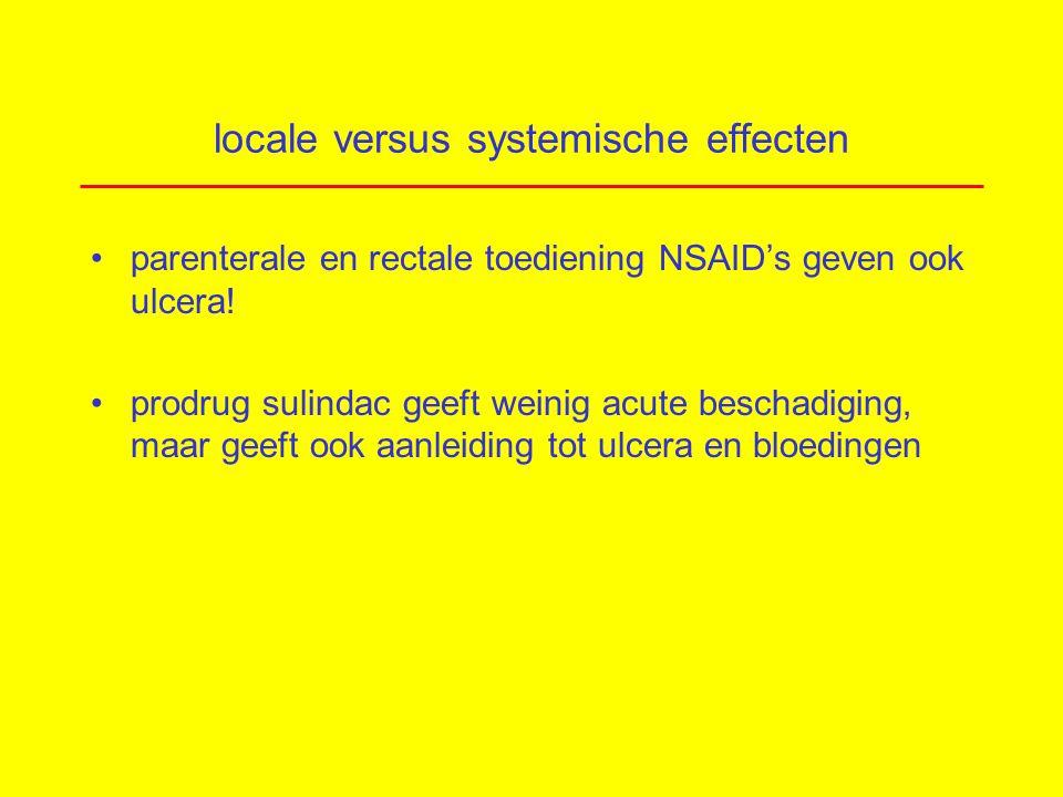 locale versus systemische effecten