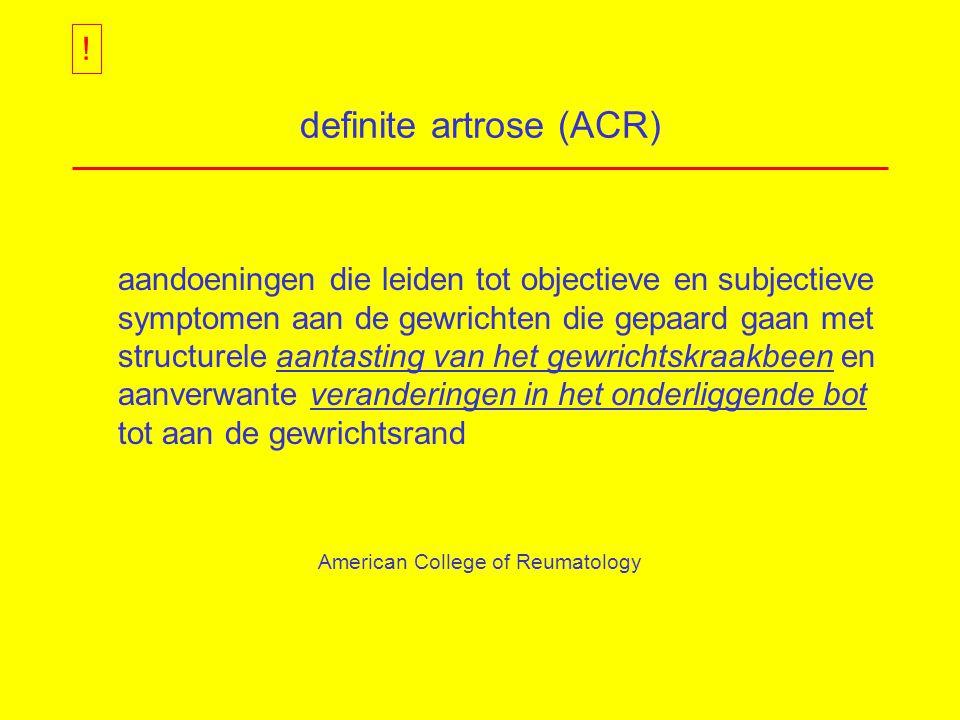 definite artrose (ACR)