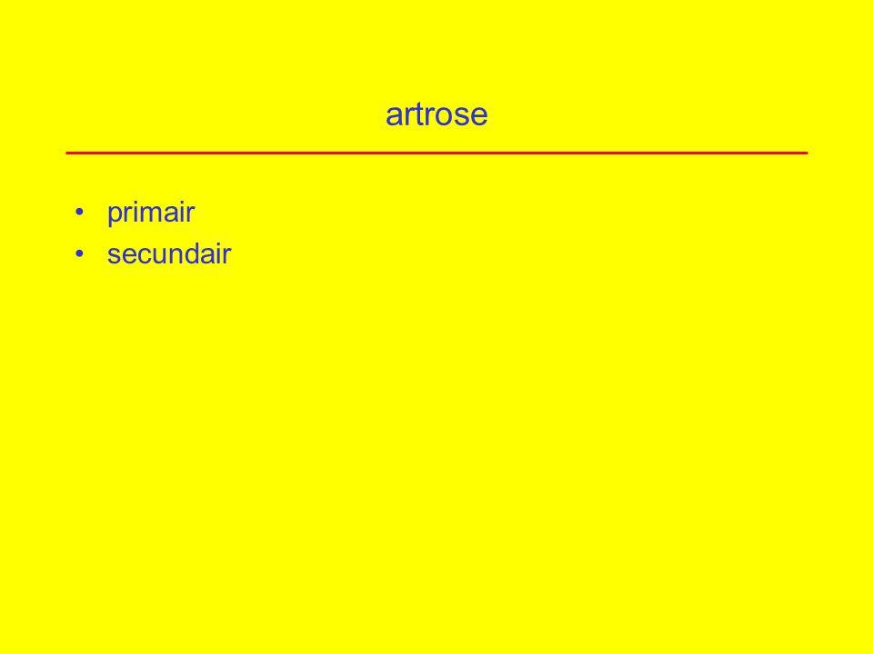 artrose primair secundair