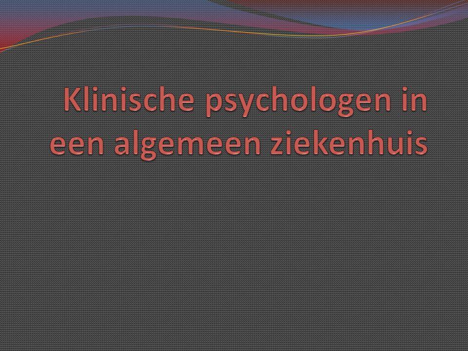 Klinische psychologen in een algemeen ziekenhuis