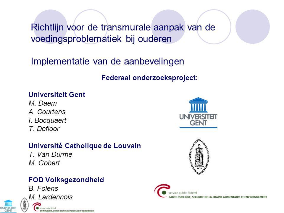 Federaal onderzoeksproject: