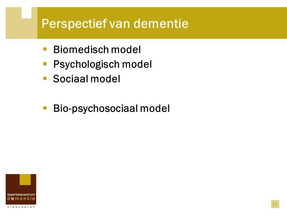 Perspectief van dementie