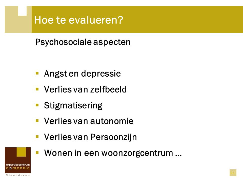Hoe te evalueren Psychosociale aspecten Angst en depressie