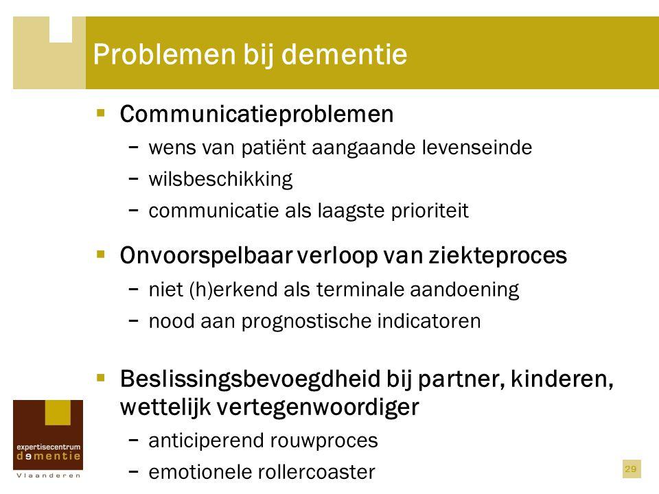 Problemen bij dementie