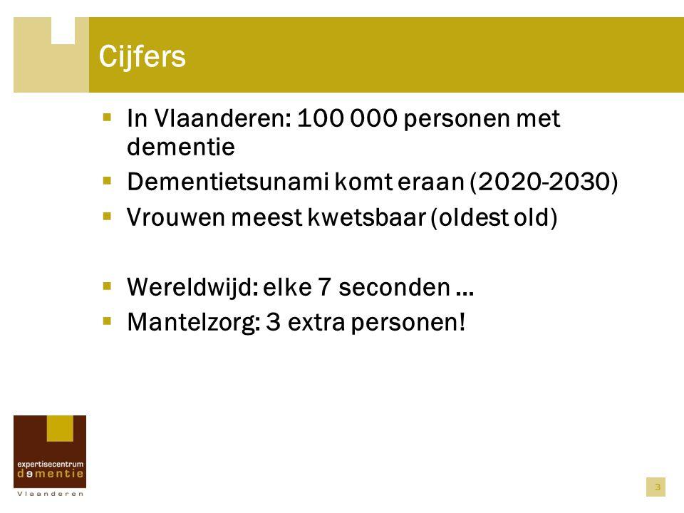 Cijfers In Vlaanderen: 100 000 personen met dementie