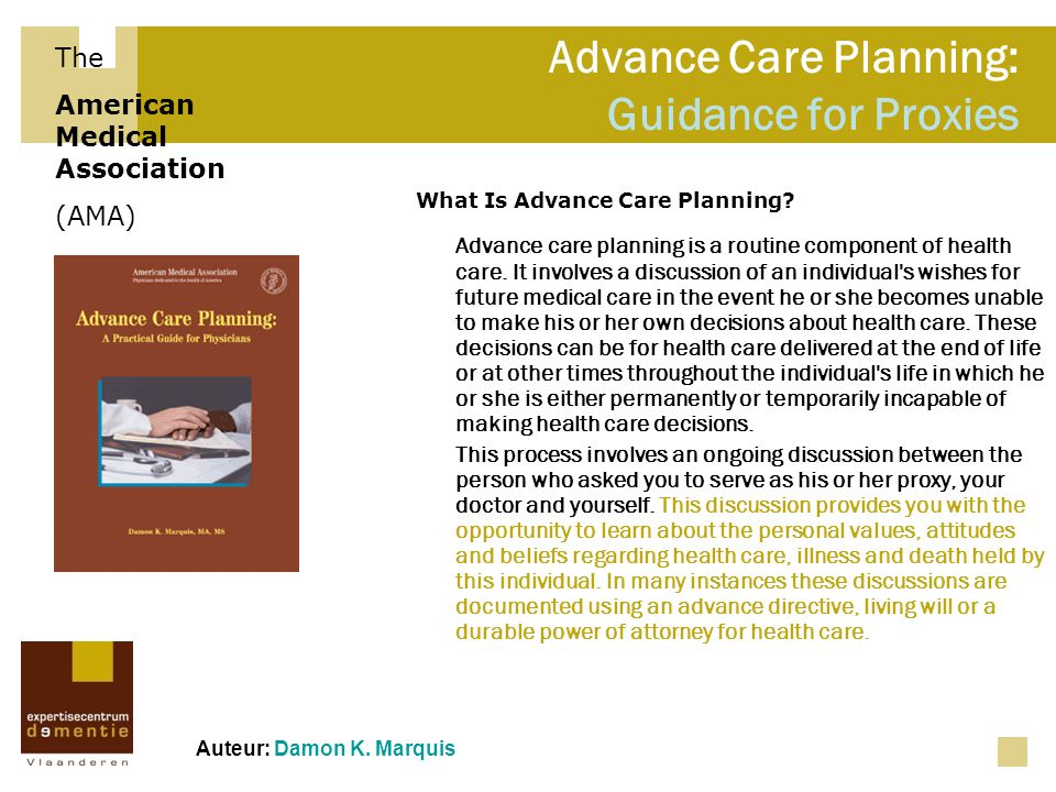 Advance Care Planning: Guidance for Proxies
