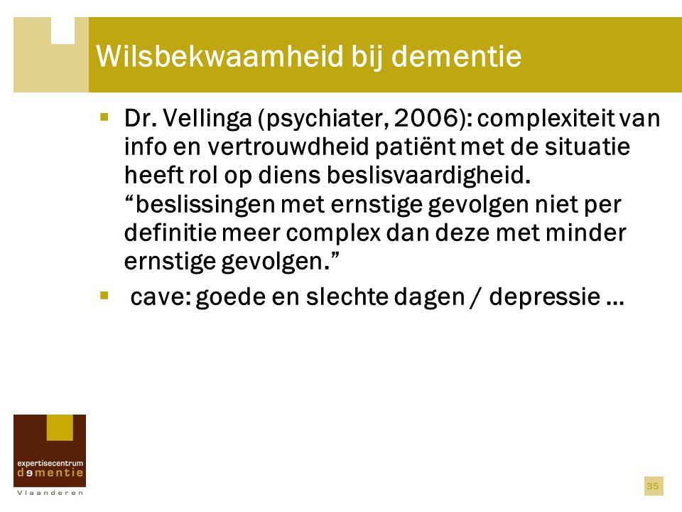 Wilsbekwaamheid bij dementie
