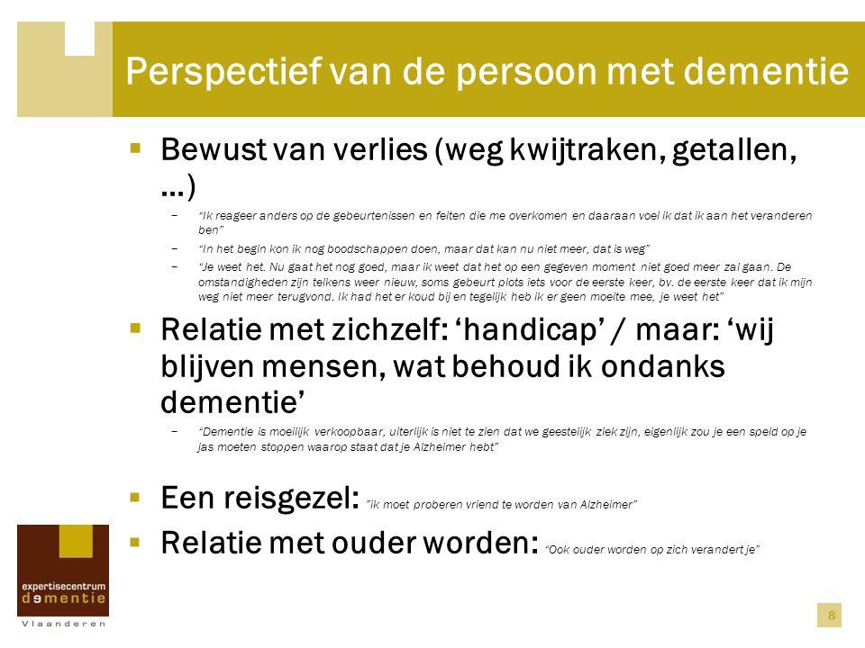 Perspectief van de persoon met dementie