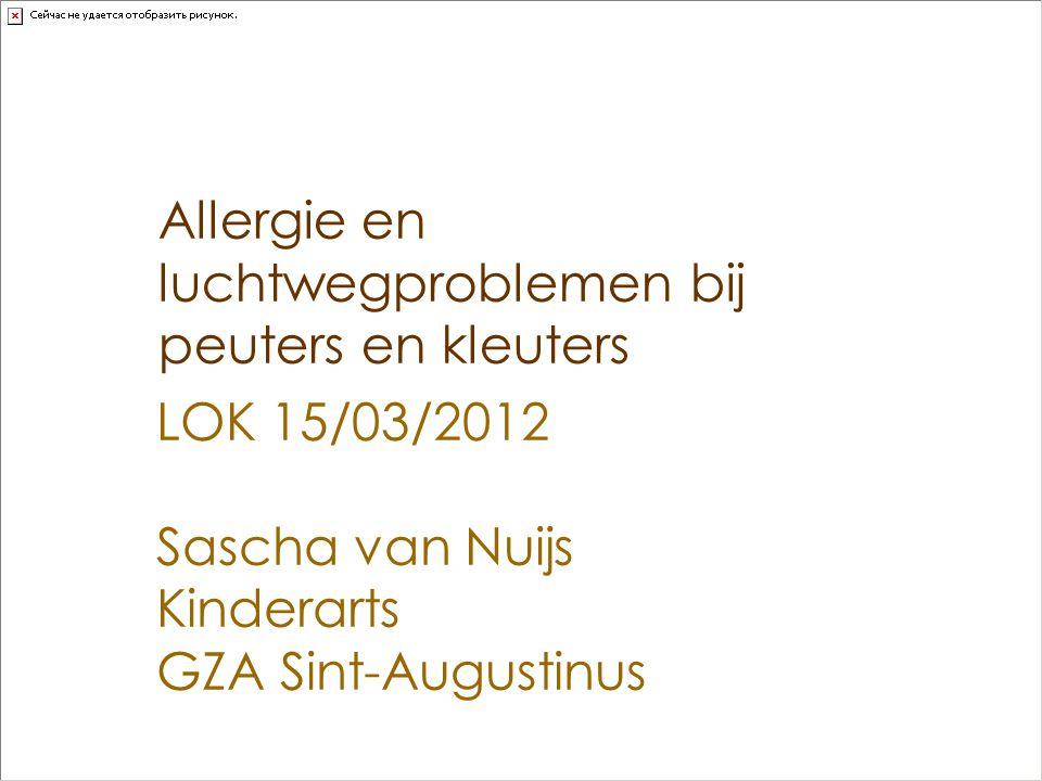 Allergie en luchtwegproblemen bij peuters en kleuters