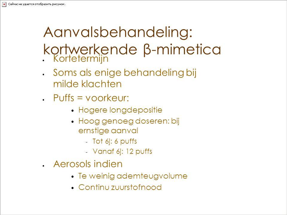 Aanvalsbehandeling: kortwerkende β-mimetica