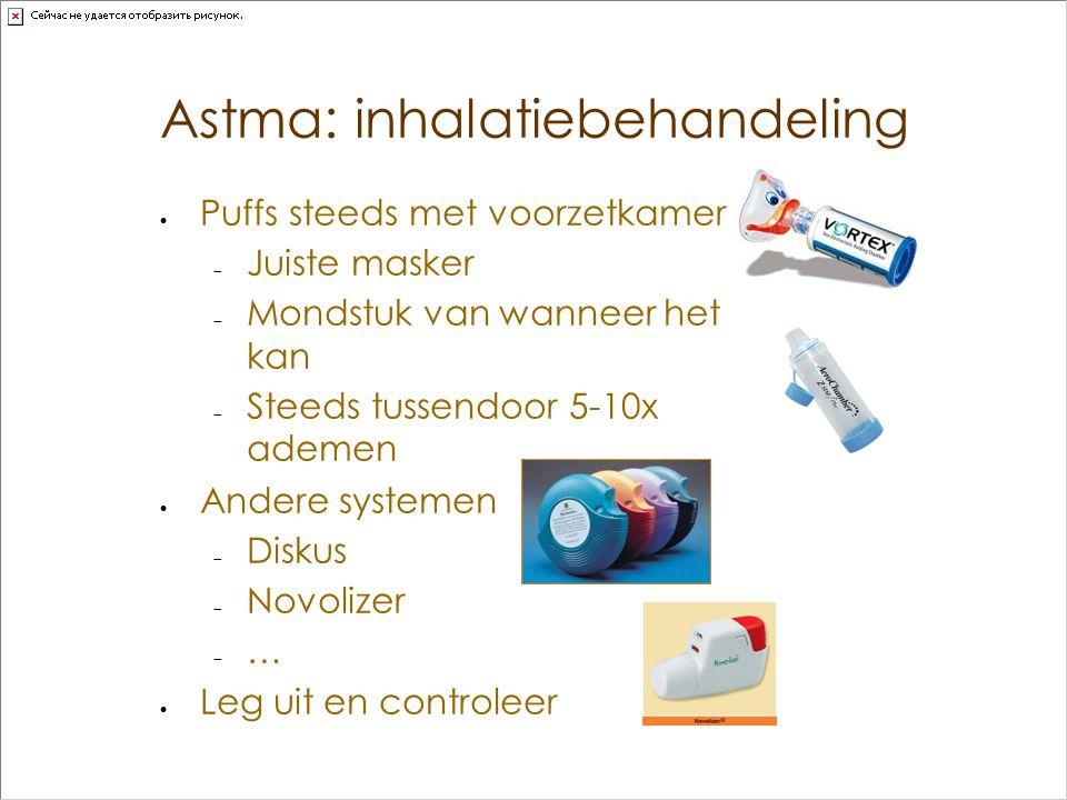 Astma: inhalatiebehandeling