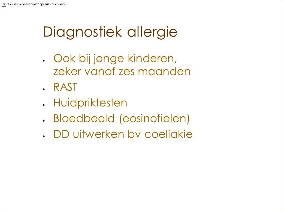 Diagnostiek allergie Ook bij jonge kinderen, zeker vanaf zes maanden