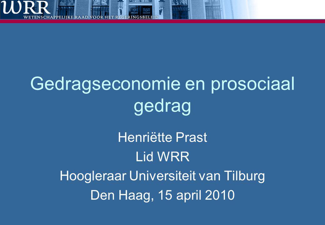 Gedragseconomie en prosociaal gedrag