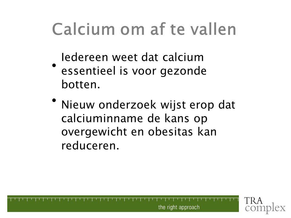 Calcium om af te vallen • •