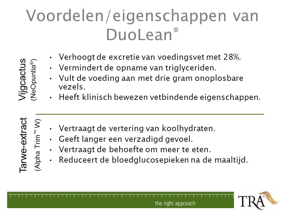 Voordelen/eigenschappen van DuoLean®