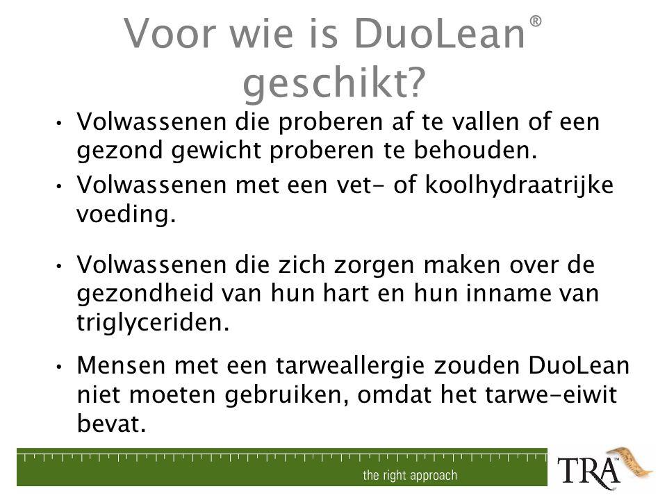 Voor wie is DuoLean® geschikt