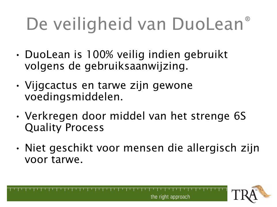 De veiligheid van DuoLean®