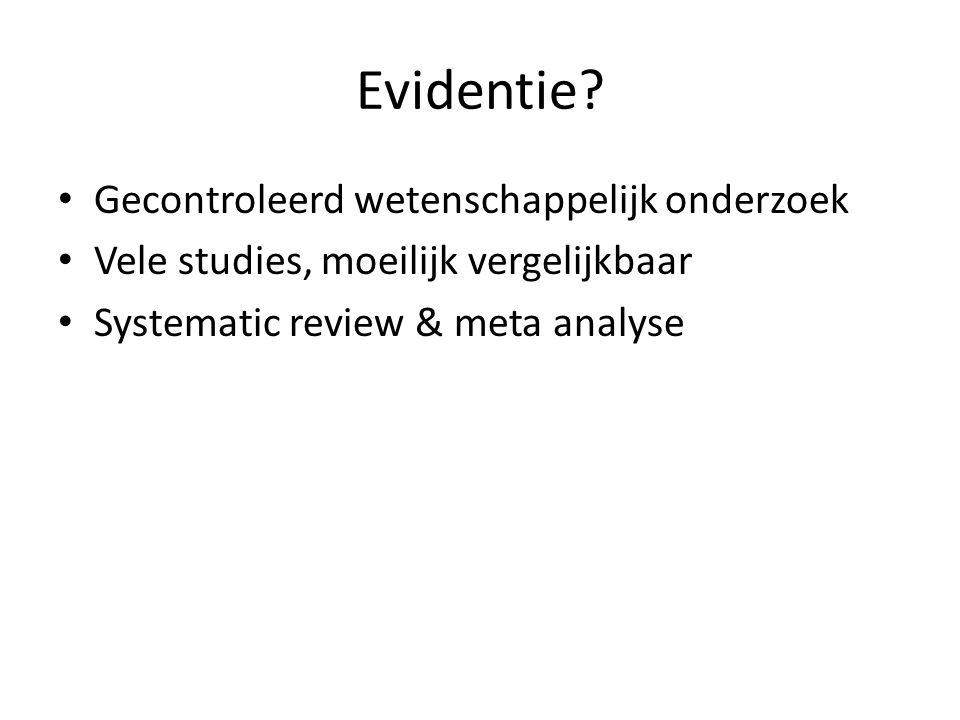 Evidentie Gecontroleerd wetenschappelijk onderzoek