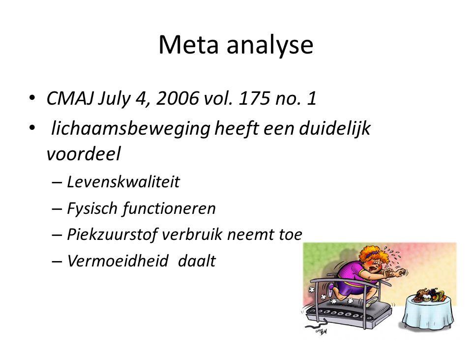 Meta analyse CMAJ July 4, 2006 vol. 175 no. 1