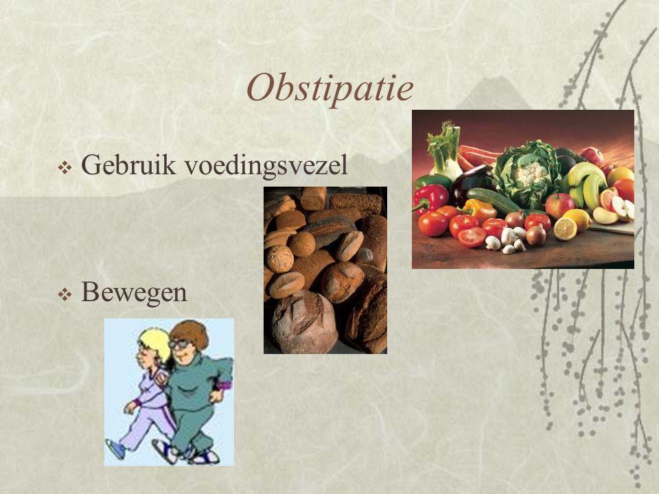 Obstipatie Gebruik voedingsvezel Bewegen
