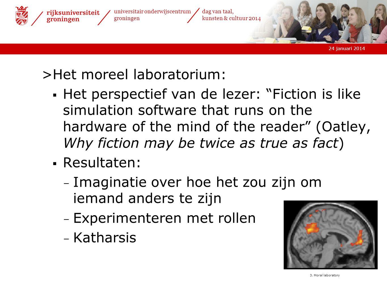 Het moreel laboratorium: