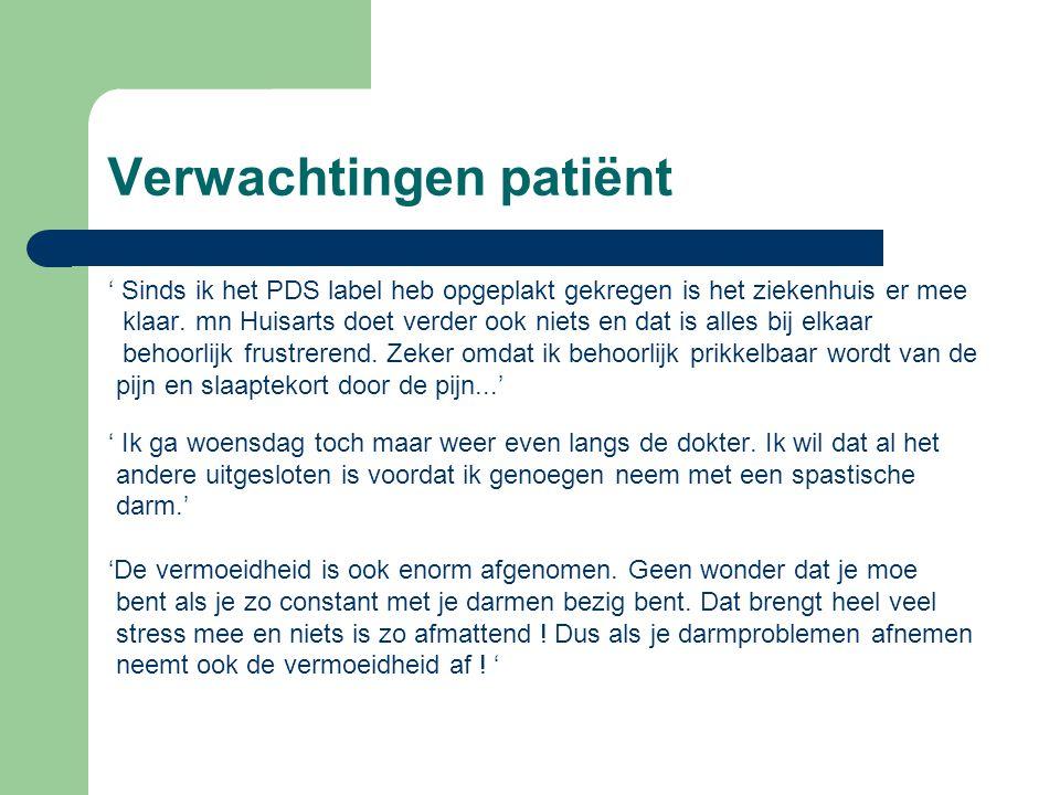 Verwachtingen patiënt