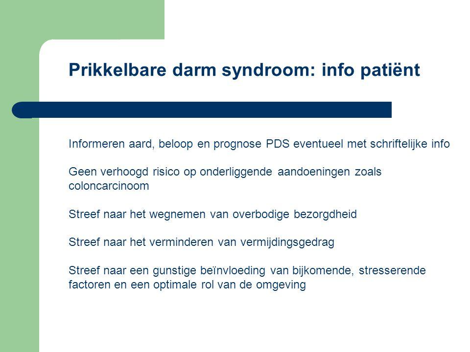 Prikkelbare darm syndroom: info patiënt