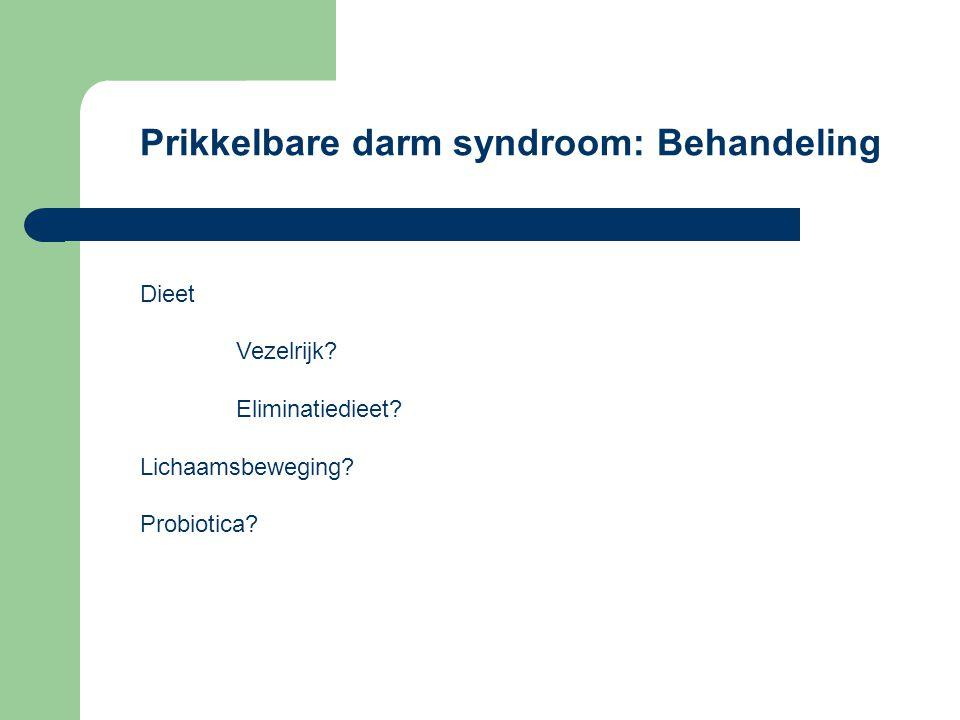 Prikkelbare darm syndroom: Behandeling