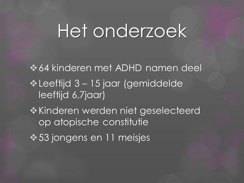 Het onderzoek 64 kinderen met ADHD namen deel
