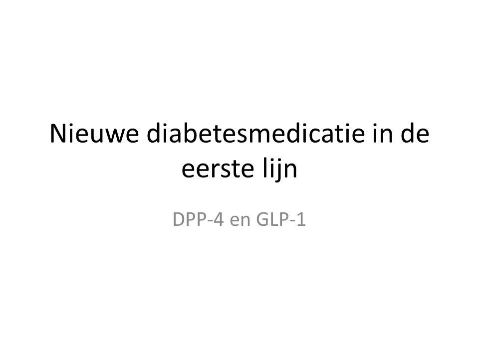 Nieuwe diabetesmedicatie in de eerste lijn