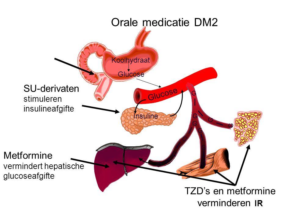 Orale medicatie DM2 SU-derivaten I Metformine TZD's en metformine