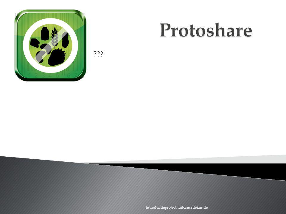 Scan wat je eet Protoshare Introductieproject Informatiekunde