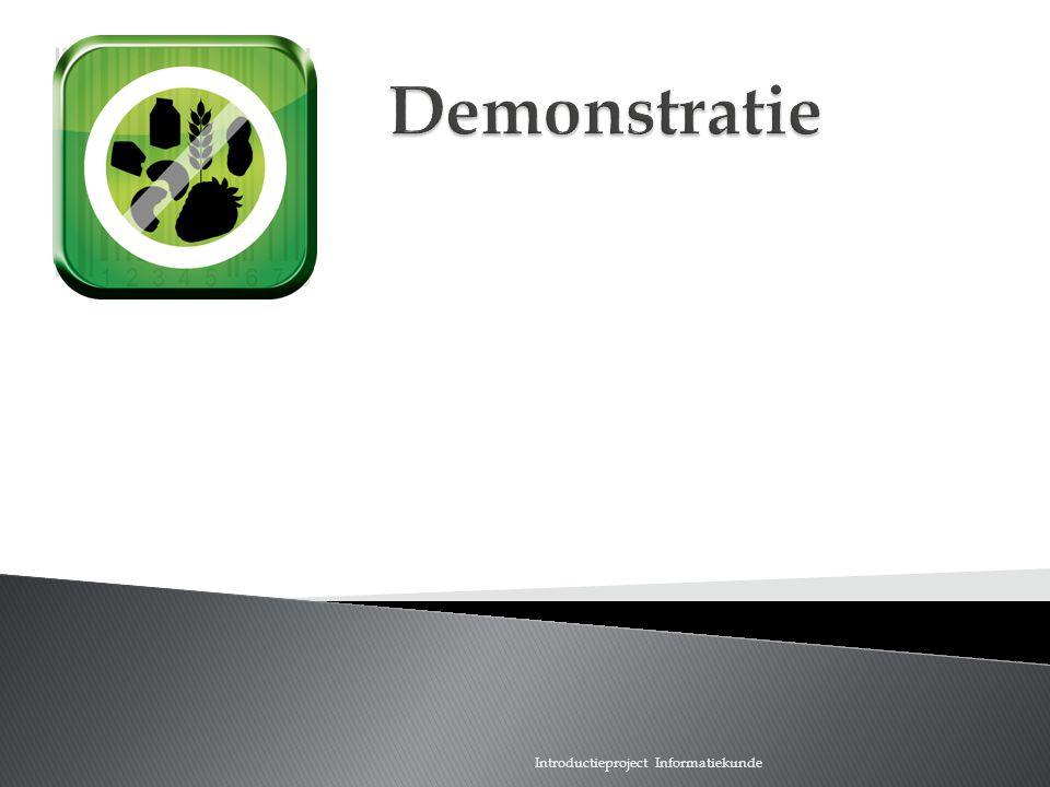 Scan wat je eet Demonstratie Introductieproject Informatiekunde