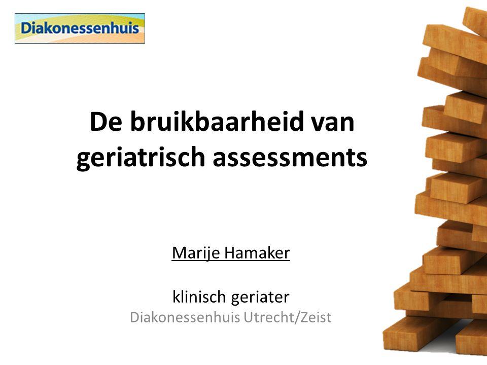 De bruikbaarheid van geriatrisch assessments