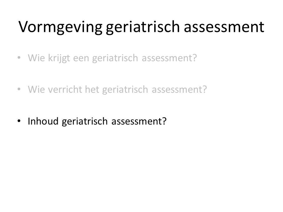 Vormgeving geriatrisch assessment