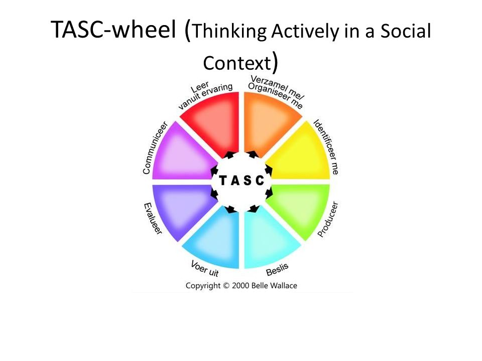 TASC-wheel (Thinking Actively in a Social Context)