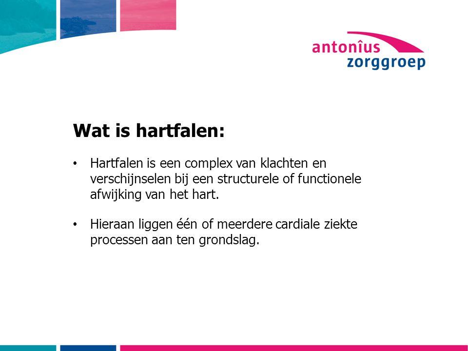 Wat is hartfalen: Hartfalen is een complex van klachten en verschijnselen bij een structurele of functionele afwijking van het hart.