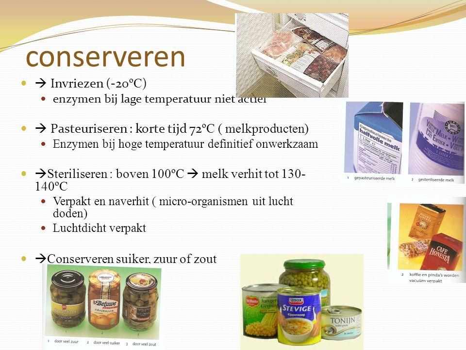 conserveren  Invriezen (-20ºC)