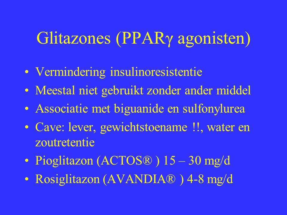 Glitazones (PPARγ agonisten)